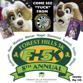 YUCK at the Forest Hills 5K Mascot Challenge!