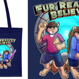 "Fur Reality – ""Believe"" Tote Bag"