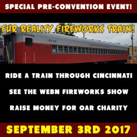 "Ride the ""Fur Reality Fireworks Train"" on Labor Day Weekend!"